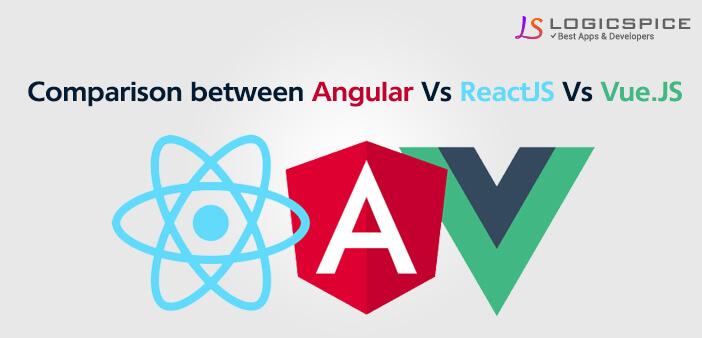 Comparison Between Angular Vs ReactJS Vs Vue.JS