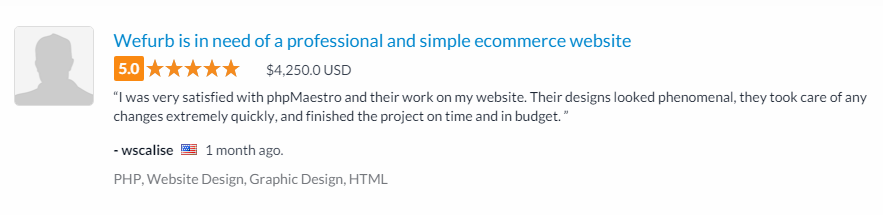 WeFurb eCommerce Website