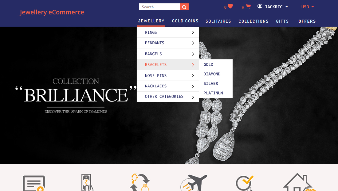 Jewellery E-Commerce Script - Categorically Search Products