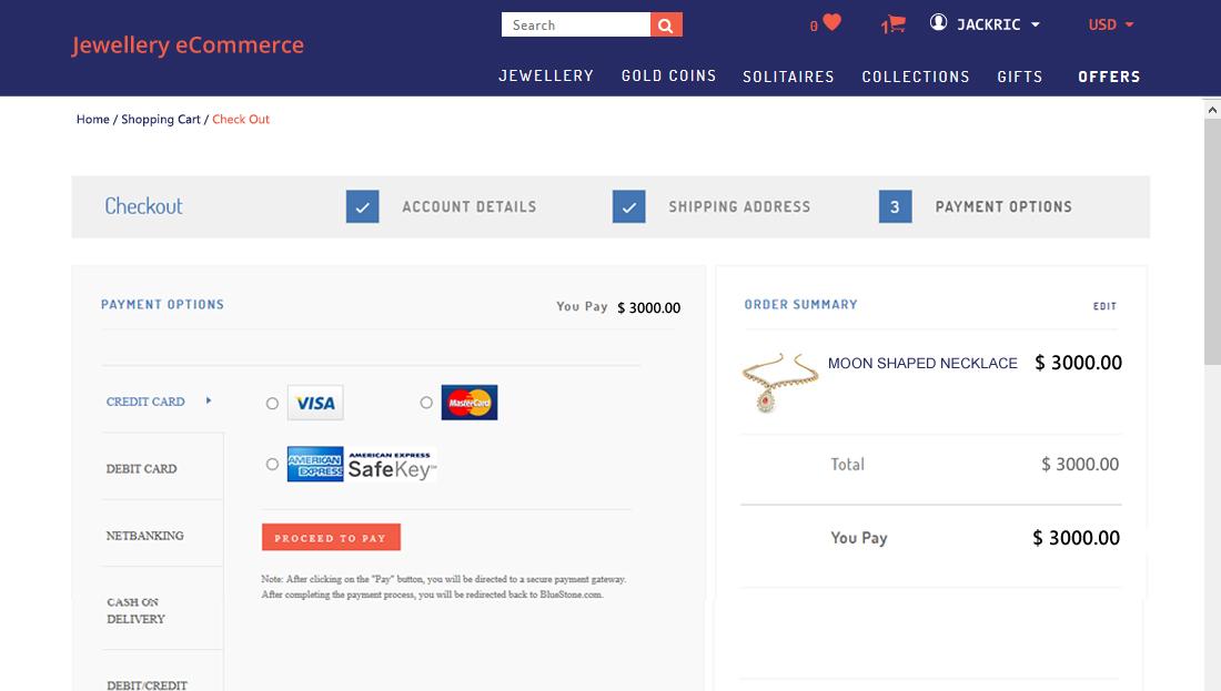 Jewellery E-Commerce Script - Checkout