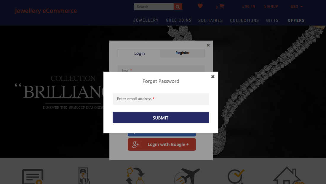 Jewellery E-Commerce Script- Forgot Password