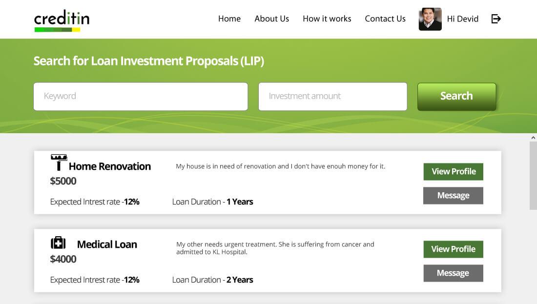 Loan Proposal Listing