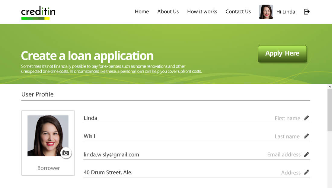 Loan System Borrower/Lender Profile