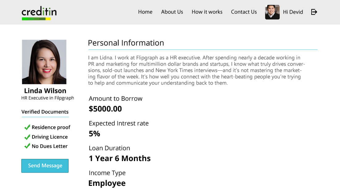 View Loan Borrower Profile