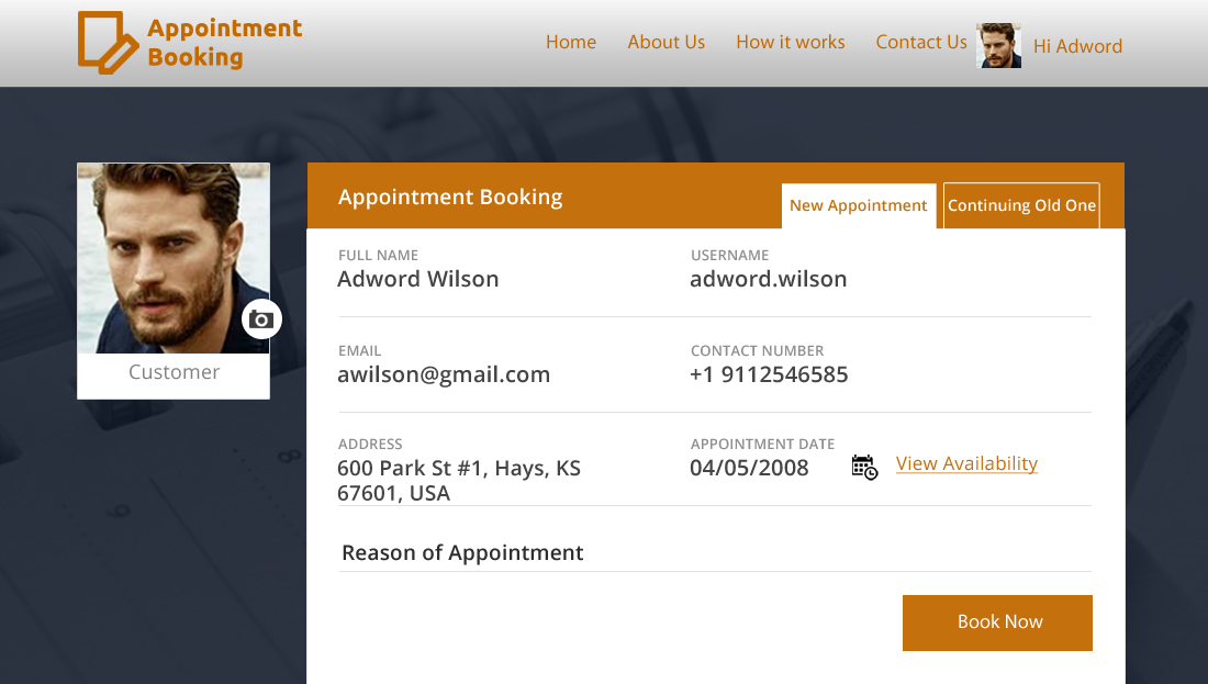 Appointment Booking Script - online Booking