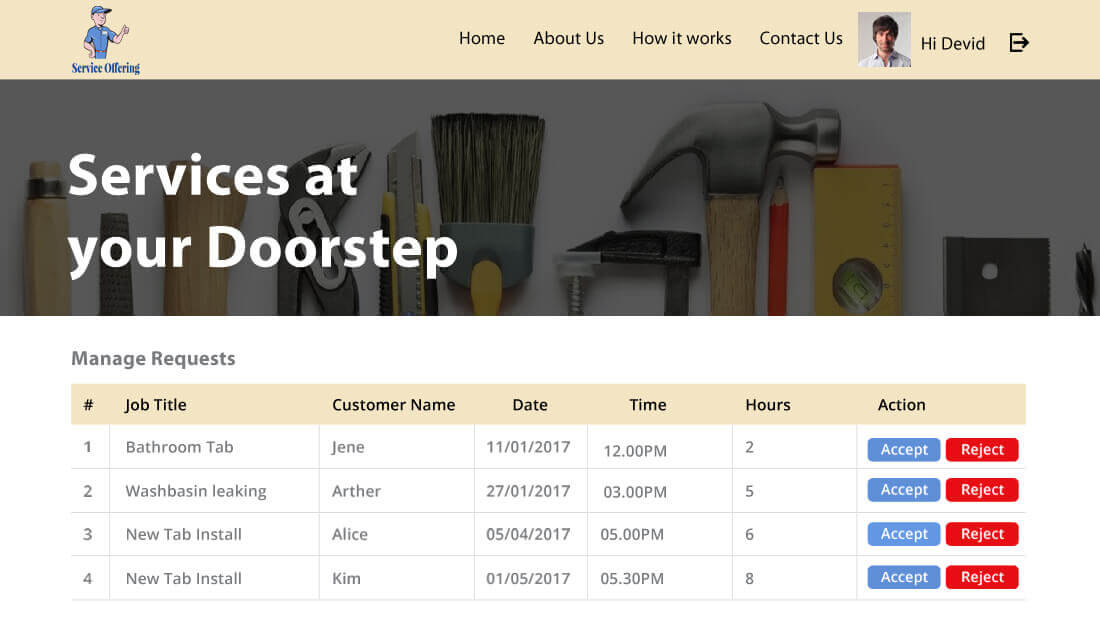 Booking Management for Helper