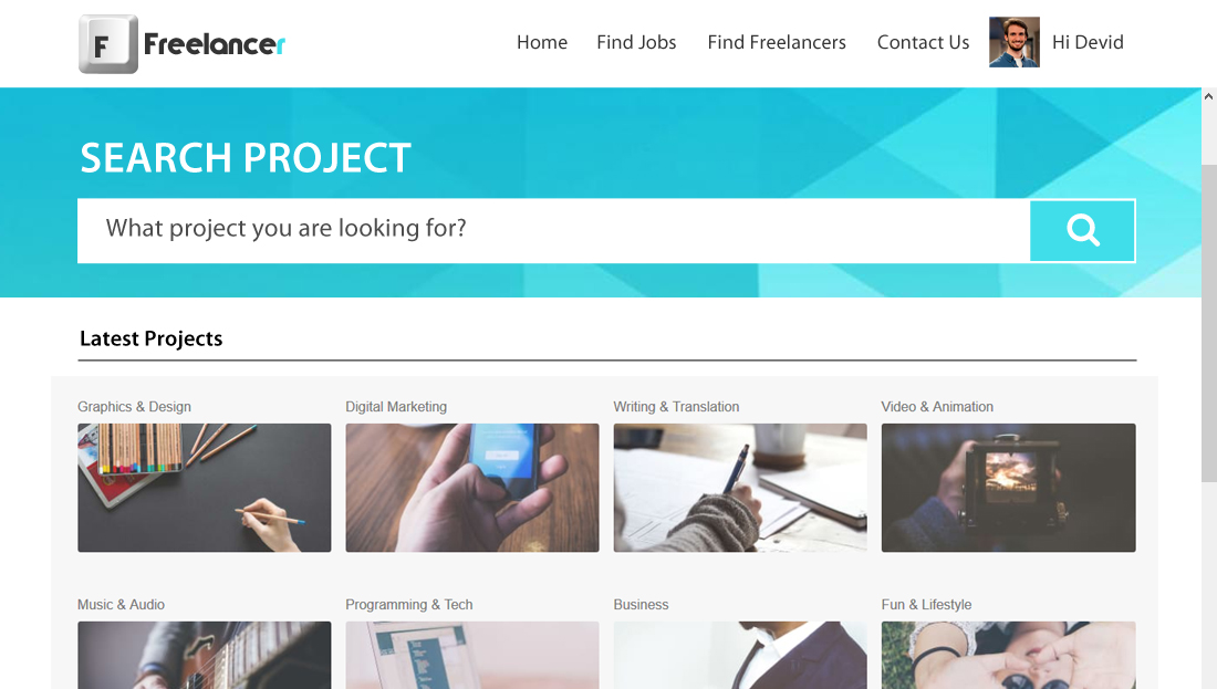 Freelancer Clone Script - Search Projects for Workers