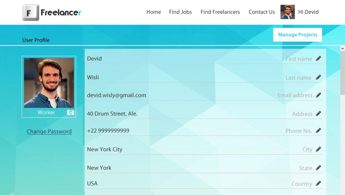 Freelancer Clone Script - User Profile