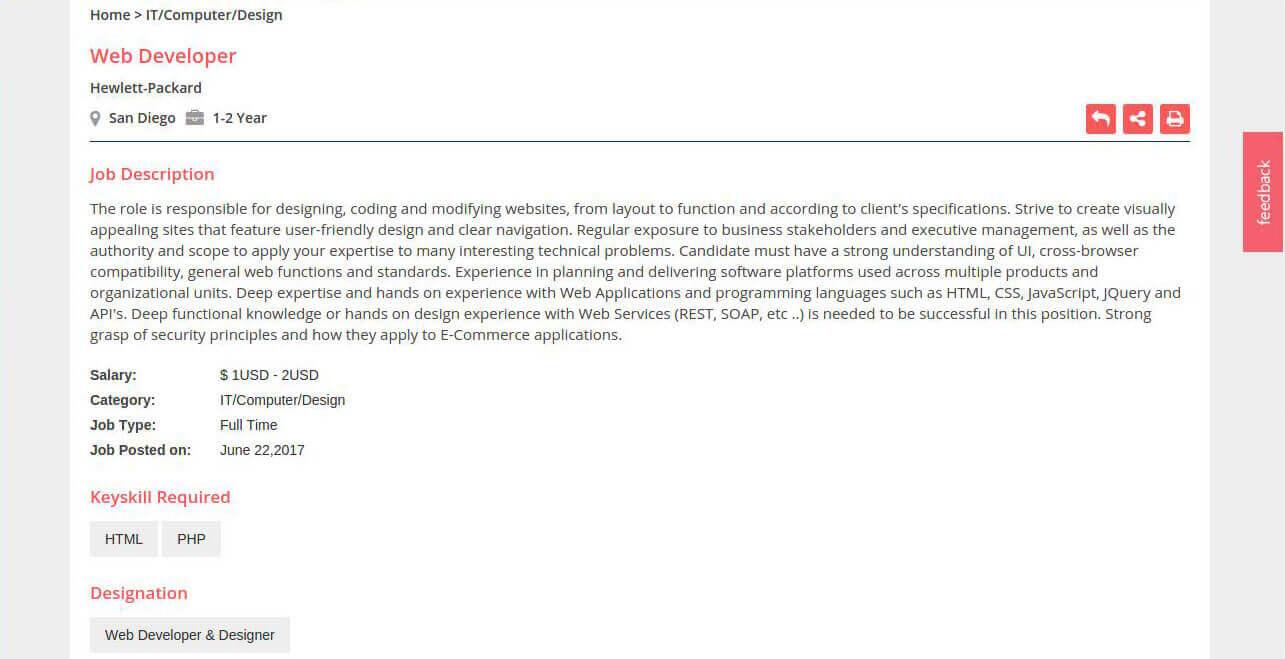 Php Developer Job Description By Job Portal Script Php Job Board Software  Monster Clone   Php