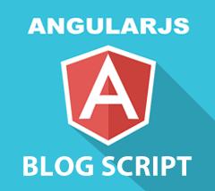 Angular Js Blog PHP Script