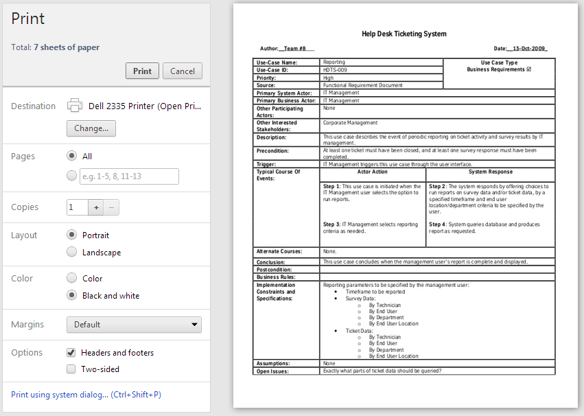 Printer-friendly - Support Script