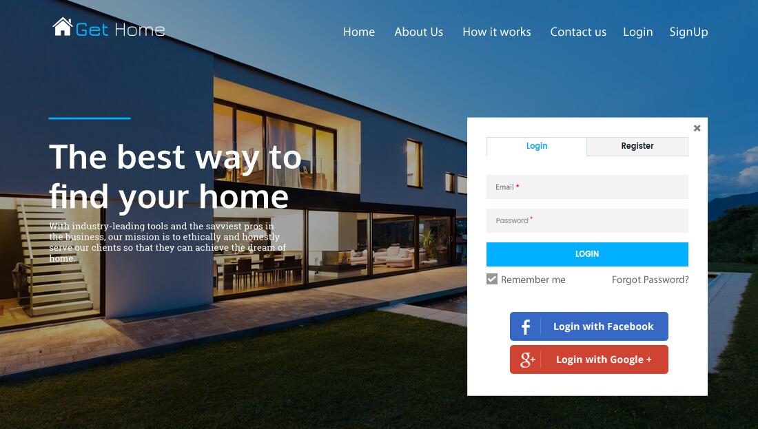 Property Rental Script- Log in