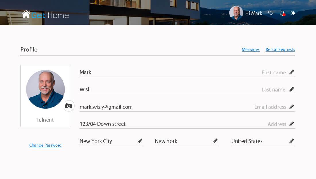 Property Rental Script - User Profile