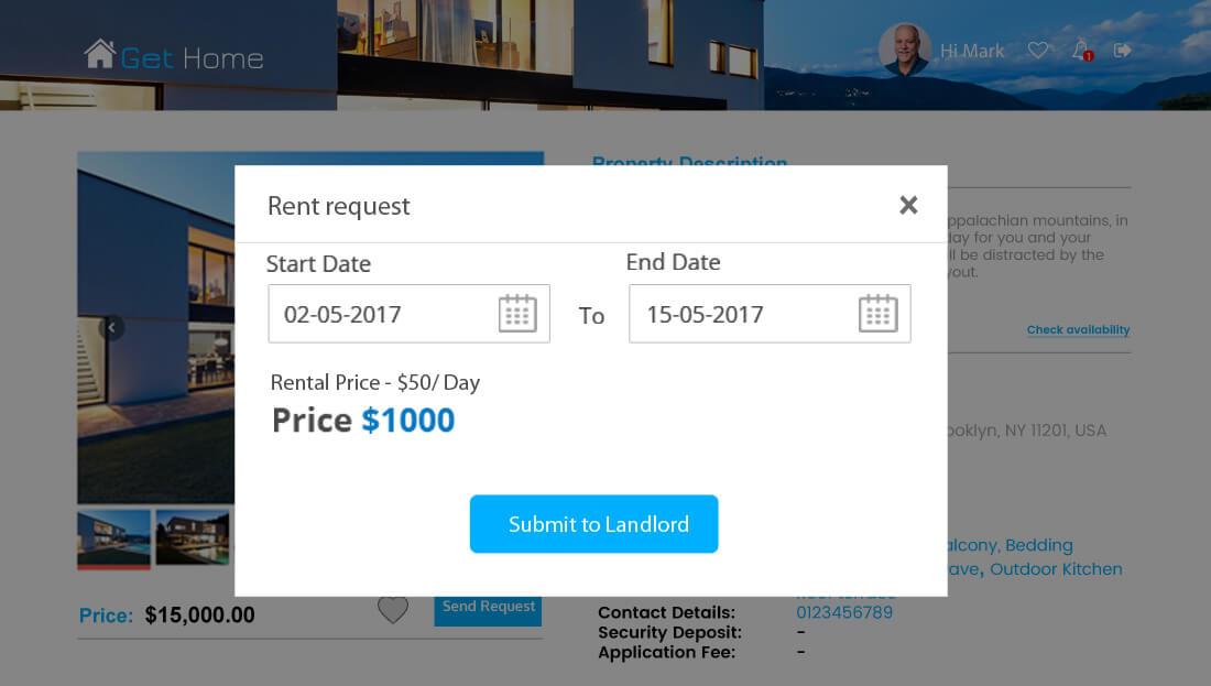 Property Rental Script - Send Booking Request