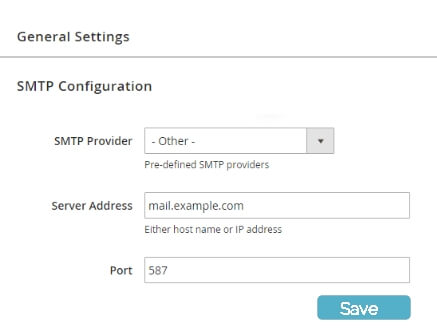 Ticket Script - Outgoing SMTP settings