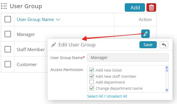 User permissions - Ticket Script