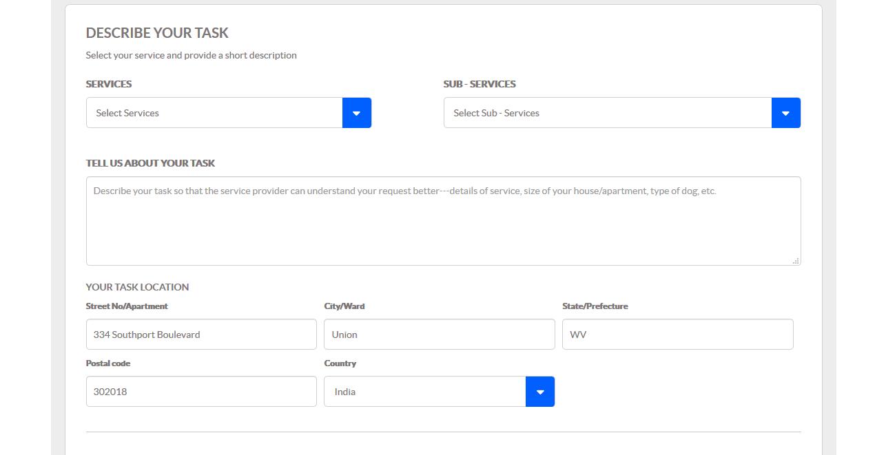 Sending Service Provider Request